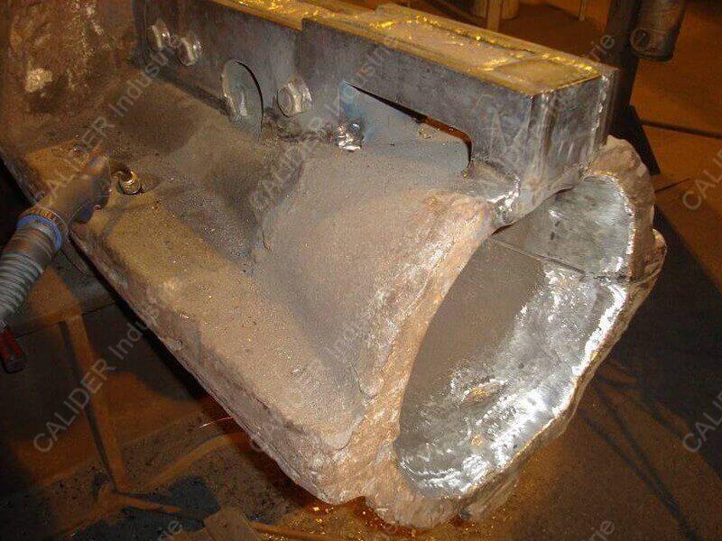 Réparation cheminée - soudure en cours