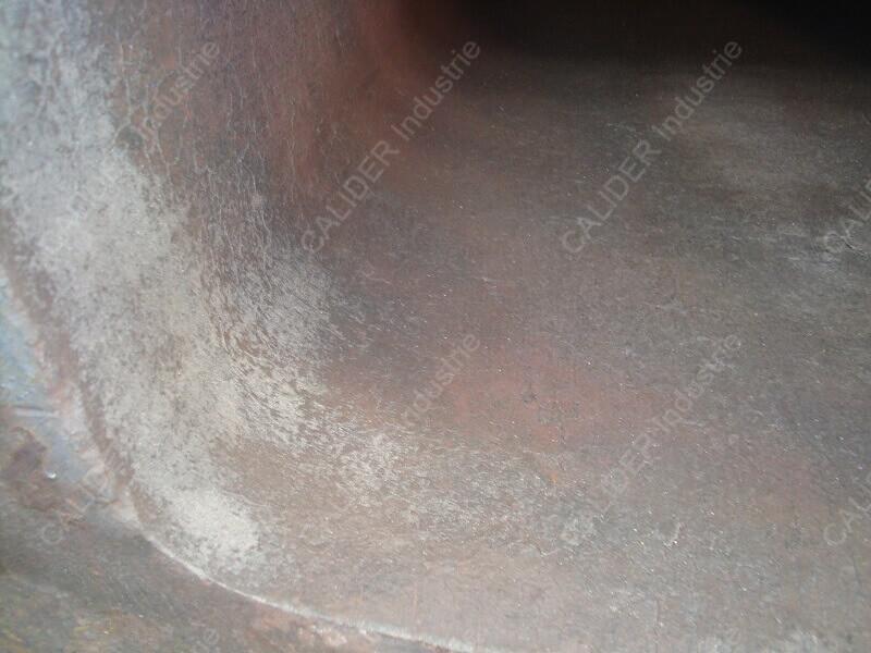 Entretien de lingotières par grenaillage - état de surface avant grenaillage