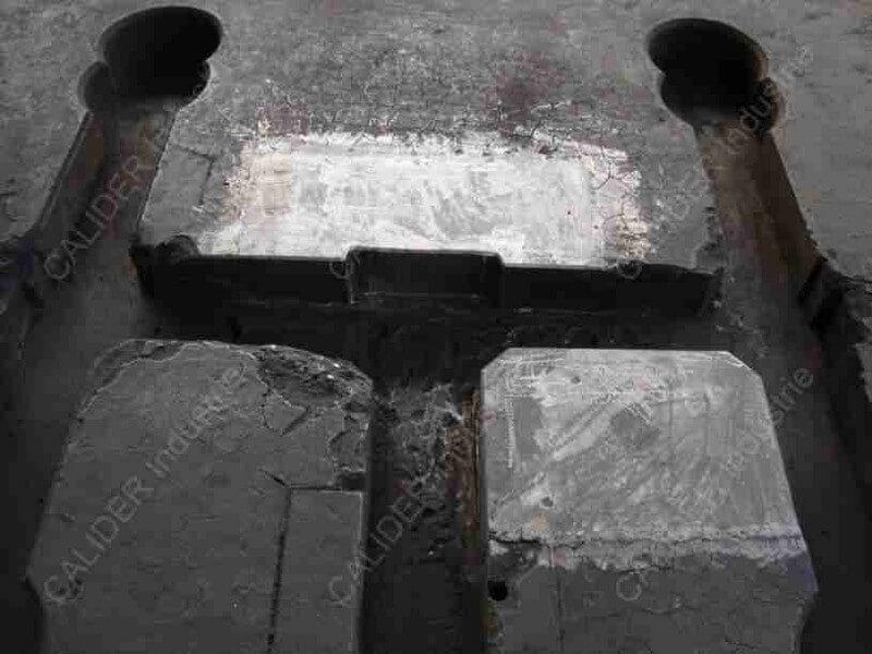 Réparation d'une plaque de source - résultat après réparation